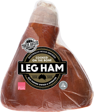 Three Aussie Farmers Half Leg Ham on the bone