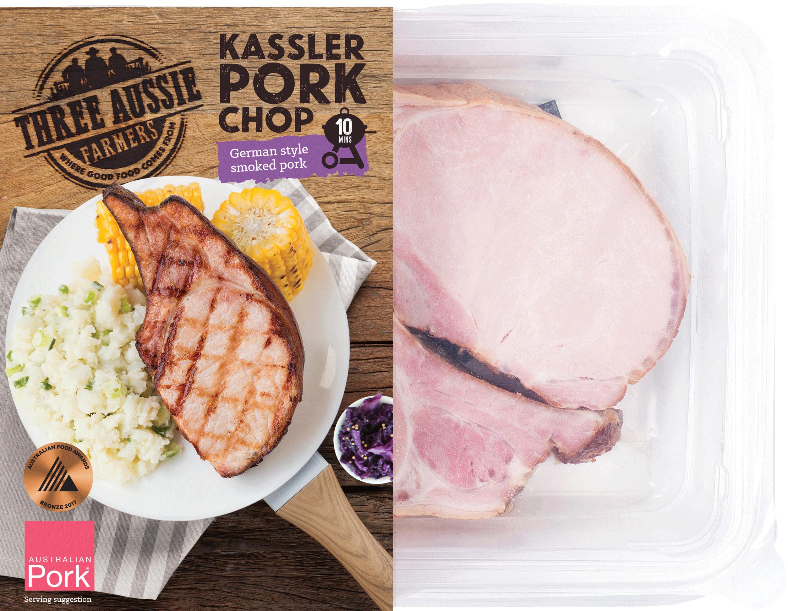 Three Aussie Farmers Kassler Pork Chop