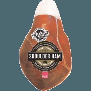 Three Aussie Farmers Semi Boneless Shoulder Ham