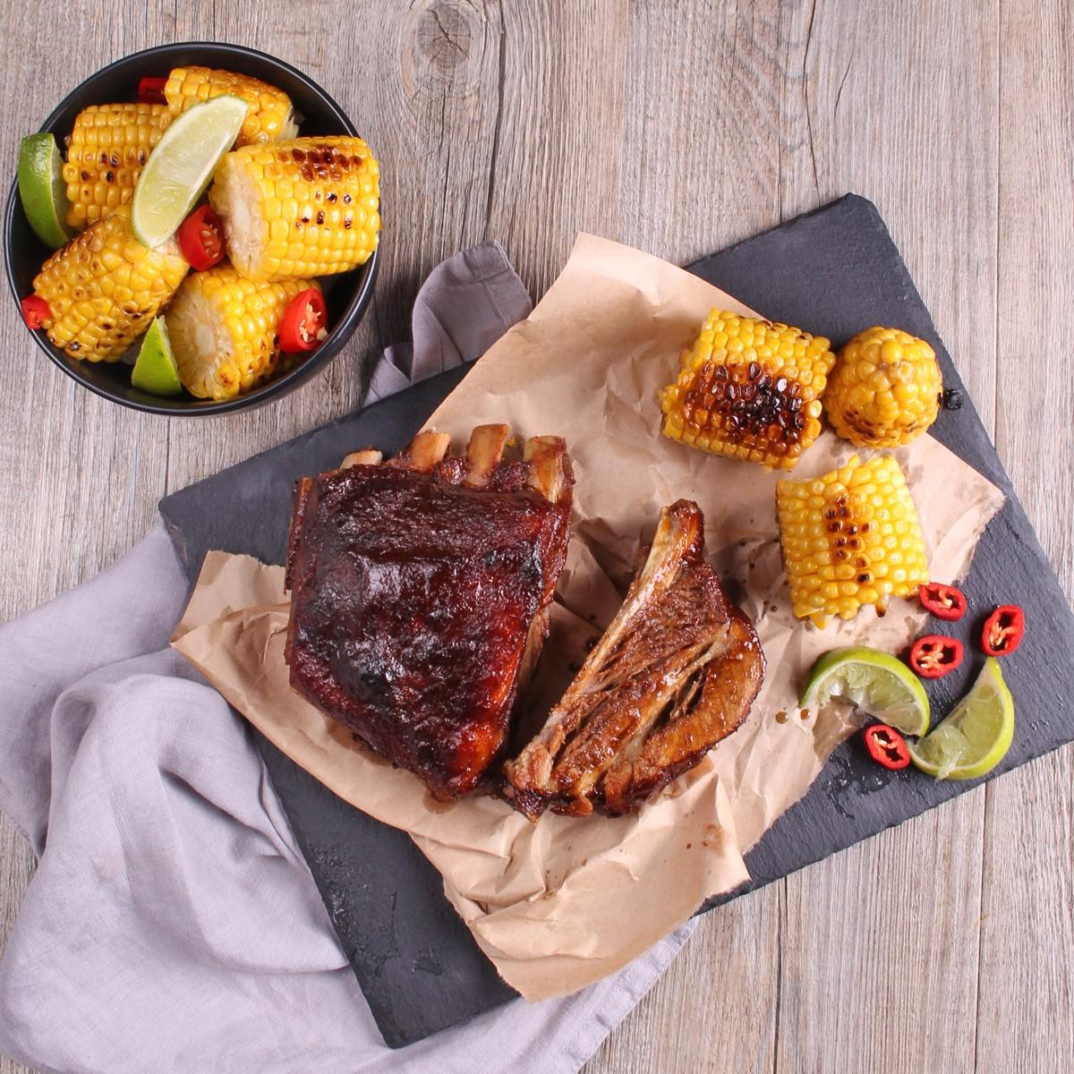 Chili & Beer BBQ Pork Ribs - Barkers Creek Meaty Riblets