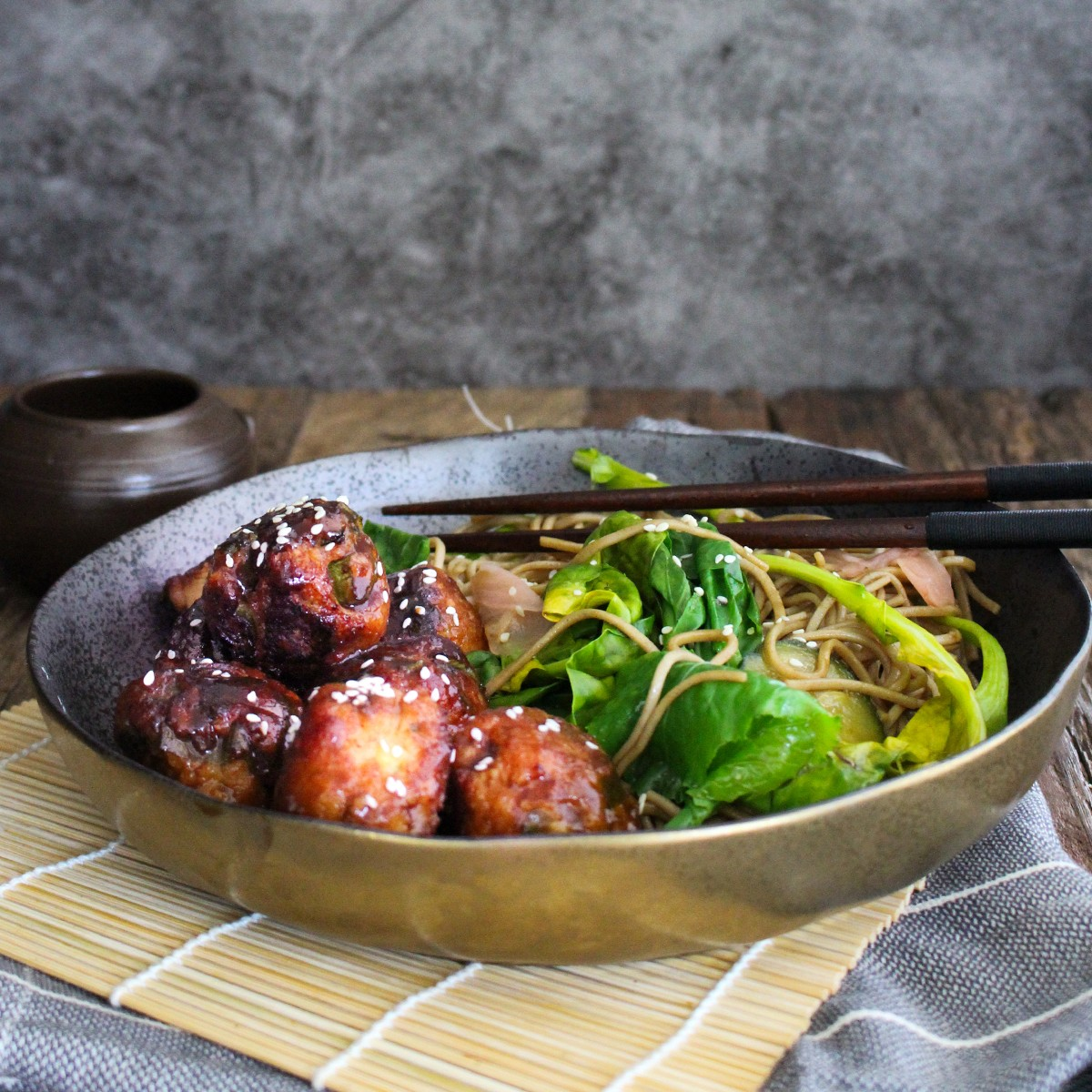Japanese Meatballs with Soba Noodle Salad - Pork Mince