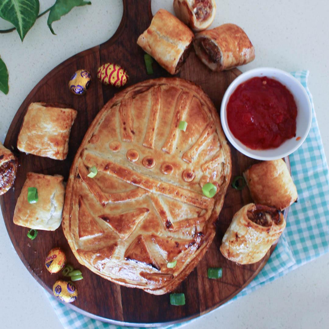 Easter Pork & Caramelised Onion Sausage Rolls - Pork mince