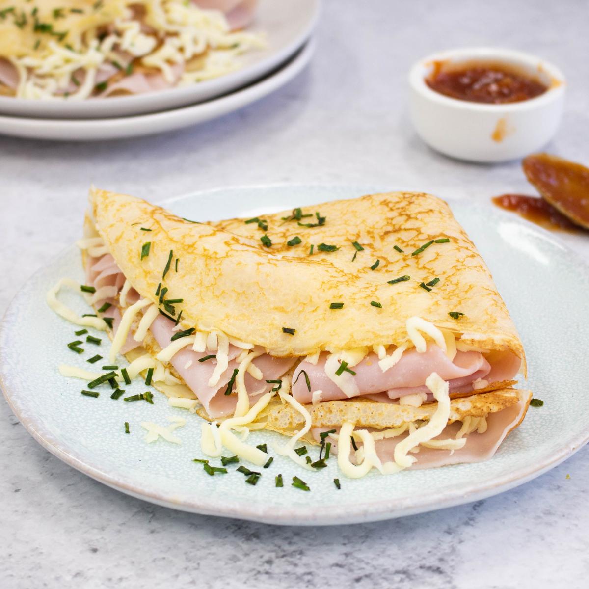 Ham and cheese Crepes - Leg Ham