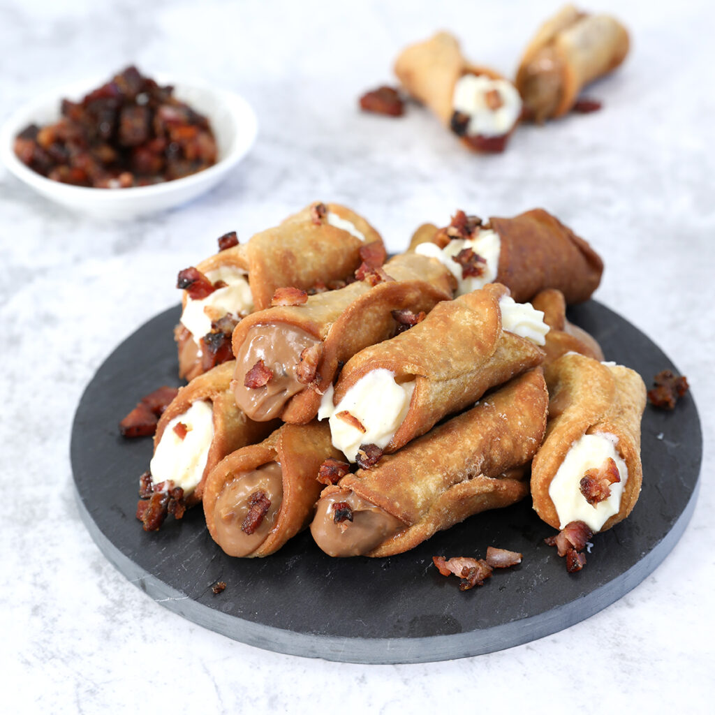Maple Bacon Cannoli