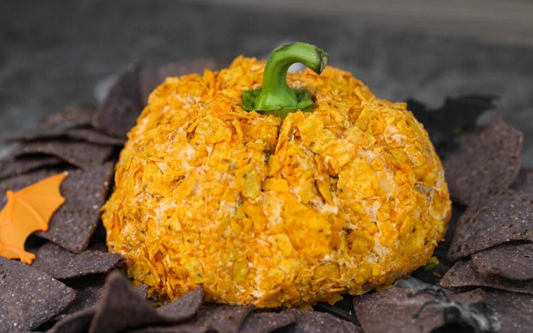 Mexican Jack-o-Lantern Bacon & Cheese Ball