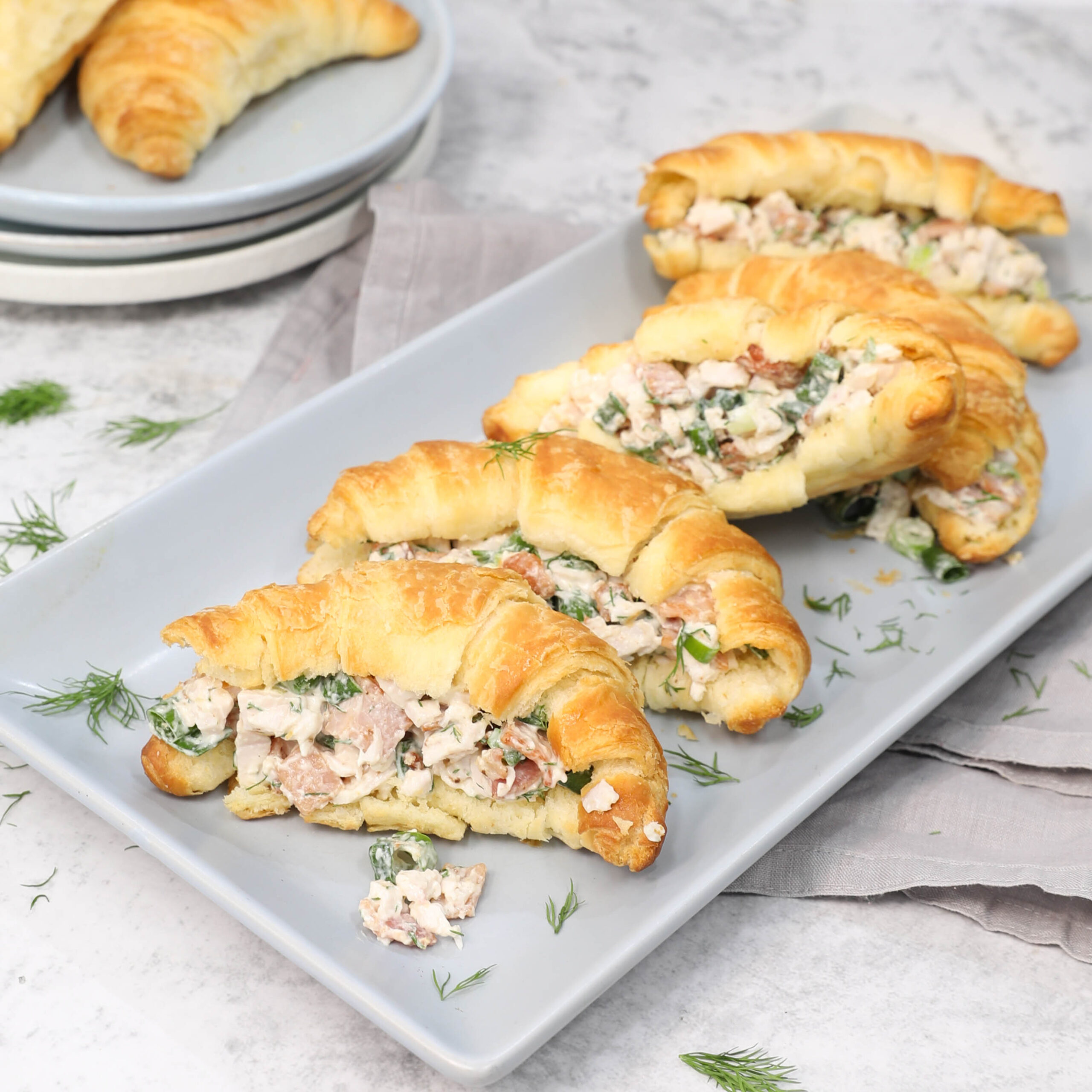 Bacon Chicken and Cream Cheese Croissants