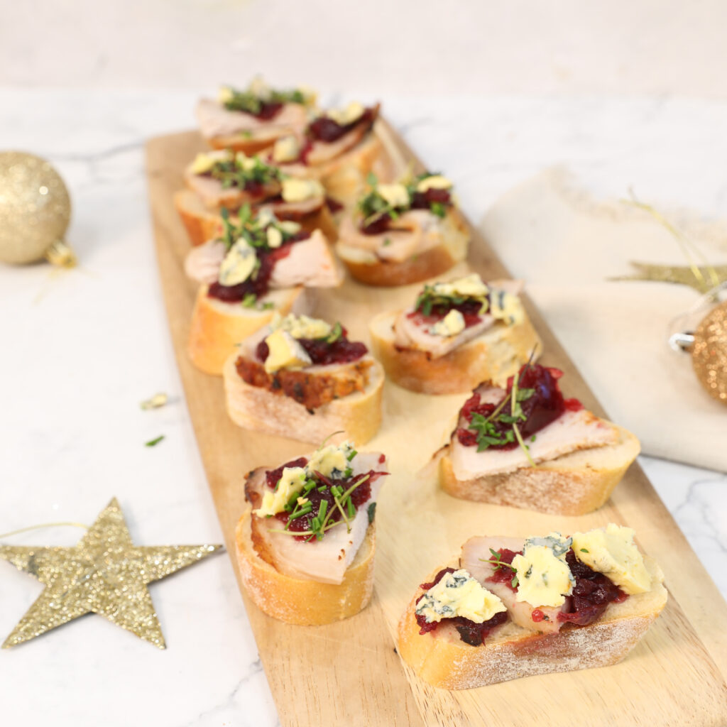 Roast Pork and Cranberry Bruschetta - Leg Roast