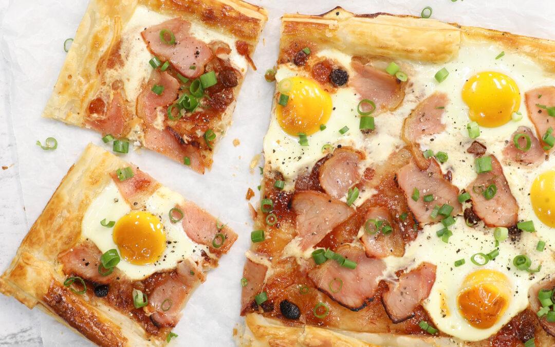 Easy Bacon & Egg Tart
