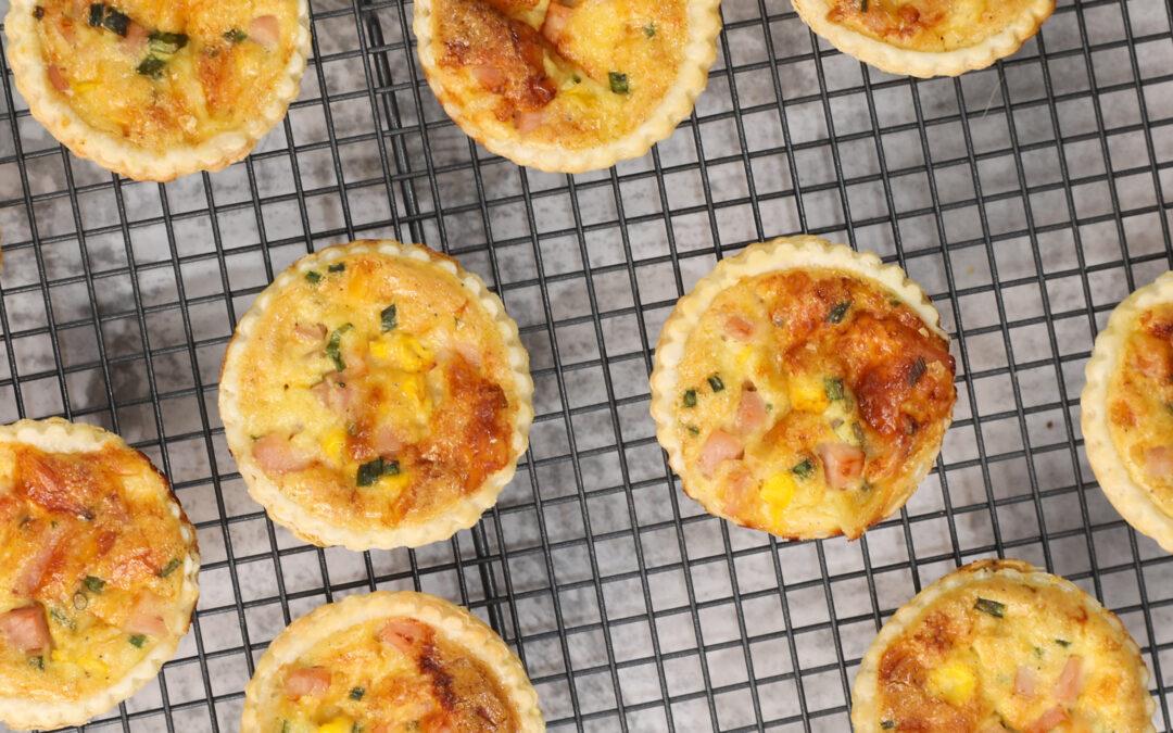 Easy Mini Ham and Cheese Quiche