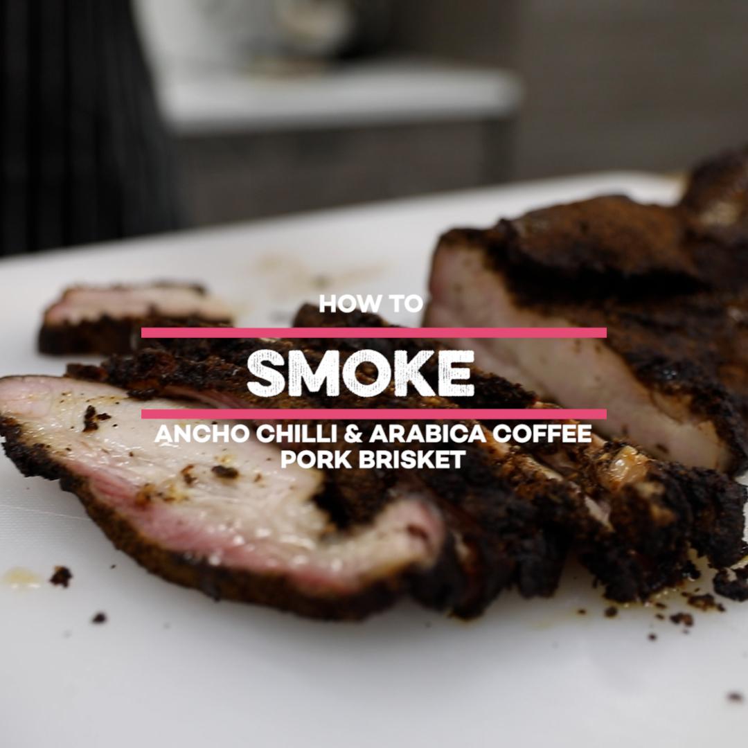SunPork Smoke Ancho Chilli & Arabica Coffee Pork Brisket Video
